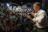 """Presidente Santos anunci� """"Mega Obras"""" para  el Meta en visita de campa�a a Villavicencio"""