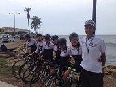 Lorena Vargas encabeza grupo de ciclistas casanare�as en la vuelta S�nior M�ster en Cartagena