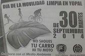 Hoy día sin carro y sin moto en Yopal