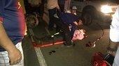 Motociclista accidentado en Villanueva