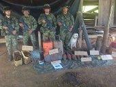 Ej�rcito desmantel� f�brica de explosivos perteneciente a la columna m�vil Te�filo Forero de las FARC en el Meta