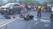 Un motociclista falleci� en accidente de tr�nsito al sur de Casanare