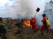 Militares del Batall�n Ram�n Nonato P�rez apoyaron extinci�n de incendio en Man�