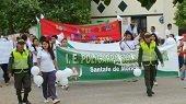 Marcha contra la violencia y el maltrato infantil en Santa Fe de Morichal