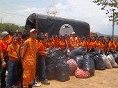 Defensa Civil recogi� dos toneladas de basura en el Cerro de La Virgen de Manare de Yopal