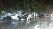 Trágico accidente en la vía Bogotá - Villavicencio 9 muertos y 20 heridos