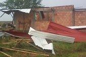 Vendaval dej� 4 familias damnificadas en Paz de Ariporo