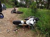 Motociclista lesionado en accidente en Monterrey