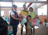 Gesti�n del Riesgo entreg� ayudas humanitarias a familias afectadas por vendaval en Paz de Ariporo