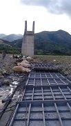 Colapso puente colgante en T�mara. Tres personas heridas