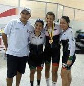 Lorena Vargas obtuvo tras medallas en nacionales de pista