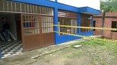 Alumnos de Colegio de Recetor en riesgo por deslizamientos y grietas en infraestructura de la institución