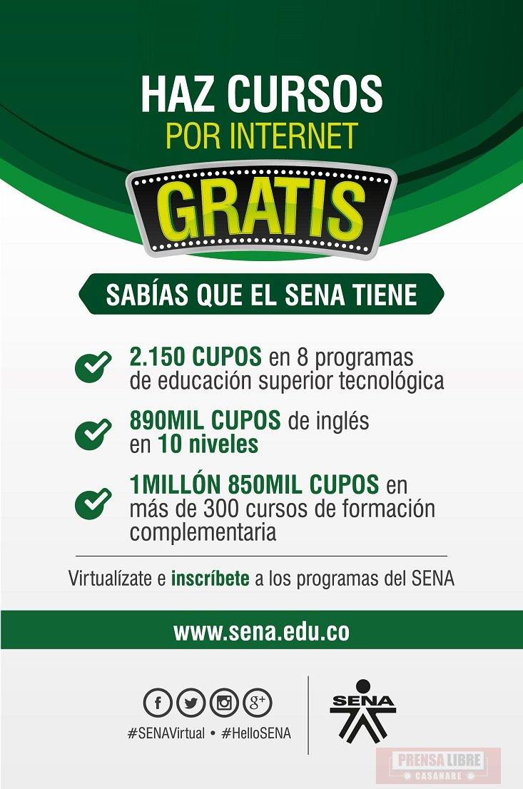Gran Oferta Virtual Del Sena Prensa Libre Casanare