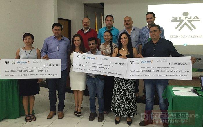 Fondo Emprender del SENA aportó 330 millones de pesos de capital semilla a tres proyectos en Casanare