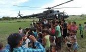 Ej�rcito transport� ayudas humanitarias para ind�genas de Ca�o Mochuelo
