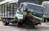 13 polic�as heridos en accidente de tr�nsito en Aguazul