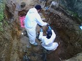 Exhumaci�n de cuerpos en fosas comunes del Antiguo Cementerio de Yopal