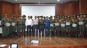 En Aguazul condecoraron a la Polic�a Nacional por aportes a la seguridad