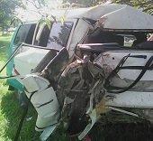 10 personas heridas en accidente de  microbús afiliado a Flota Sugamuxi