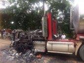 Dos carrotanques fueron incinerados en zona rural de Paz de Ariporo
