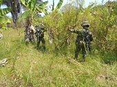Operativo del Grupo Aéreo del Casanare y Ejército Nacional contra el narcotráfico en Arauca
