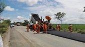 75 mil millones de pesos se invierten en  vía Aguazul – Maní, que alcanza 55% de ejecución