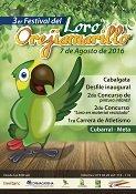 Festival del Loro Orejiamarillo en Cubarral