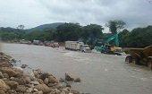 Autoridades mantienen vigilancia permanente en paso sobre el r�o Charte y ruta alterna