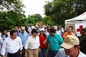 El martes quedar�n habilitados m�s pasos provisionales sobre el r�o Charte seg�n Santos