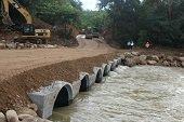 Habilitado nuevo paso para camiones y vehículos 4X4 en el río Charte