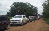 Comunidades bloquearon vía alterna a Maní