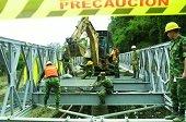 Ingenieros militares empiezan construcción de dos puentes modulares tipo acrow en el Charte