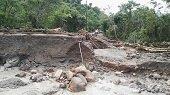 Quebrada Cupiagüera derribó 50 metros de vía interna en el acceso al CPF Cupiagua