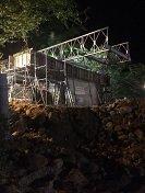 Crecientes dificultan construcción de estribos de puentes militares en el río Charte