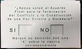 Lista logística electoral para plebiscito por la paz en Casanare
