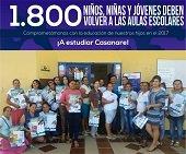 Más de mil niños se reintegrarán al sistema escolar de Casanare en 2017