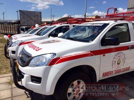 100% de los municipios de Casanare cuentan ahora con vehículos extintores de incendios