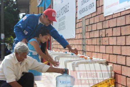 Por deuda cortaron la energía para el suministro de agua potable en el punto de la Cruz Roja en Yopal