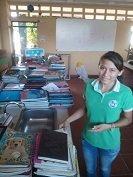 Primera dama emprendió campaña de recolección de cuadernos usados que serán cambiados por nuevos
