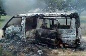 Vehículo de transporte escolar se incineró en Hato Corozal como consecuencia de falla eléctrica