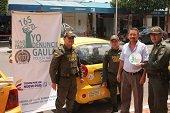 Campaña contra la extorsión en Aguazul