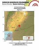 Sismo de 4 grados en la escala Richter tuvo como epicentro a Sabanalarga