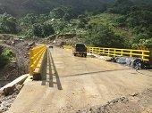 Listo importante puente en la vía El Morro - Labranzagrande