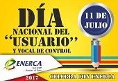 Enerca celebra hoy el día nacional del usuario y el vocal de control