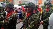 Desfile Militar en Yopal para celebrar los 207 años del grito de Independencia