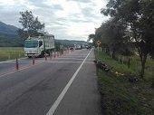 Motociclista gravemente lesionado en accidente en la vía Aguazul - Yopal