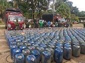 3.048 galones de combustible de contrabando fueron incautados por Fuerza de Tarea Quirón
