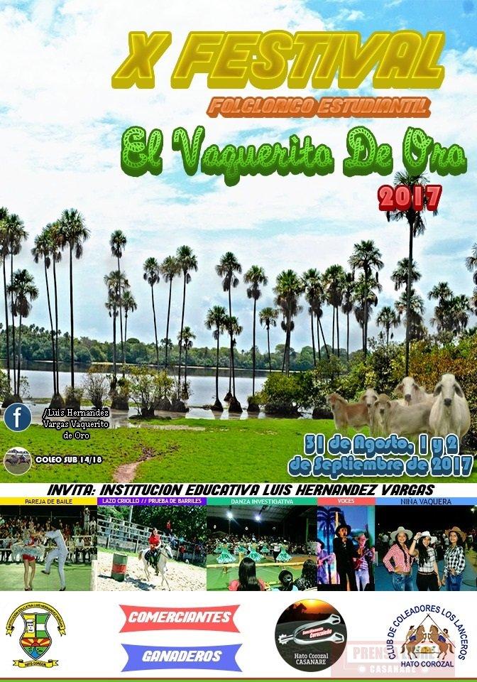 Festival folclórico estudiantil El Vaquerito de Oro en Hato