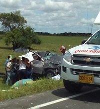 Tres personas heridas en accidente de tránsito en la vía Maní - Aguazul