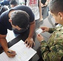 Hoy en Aguazul jornada de definición de situación militar para víctimas de desplazamiento forzado